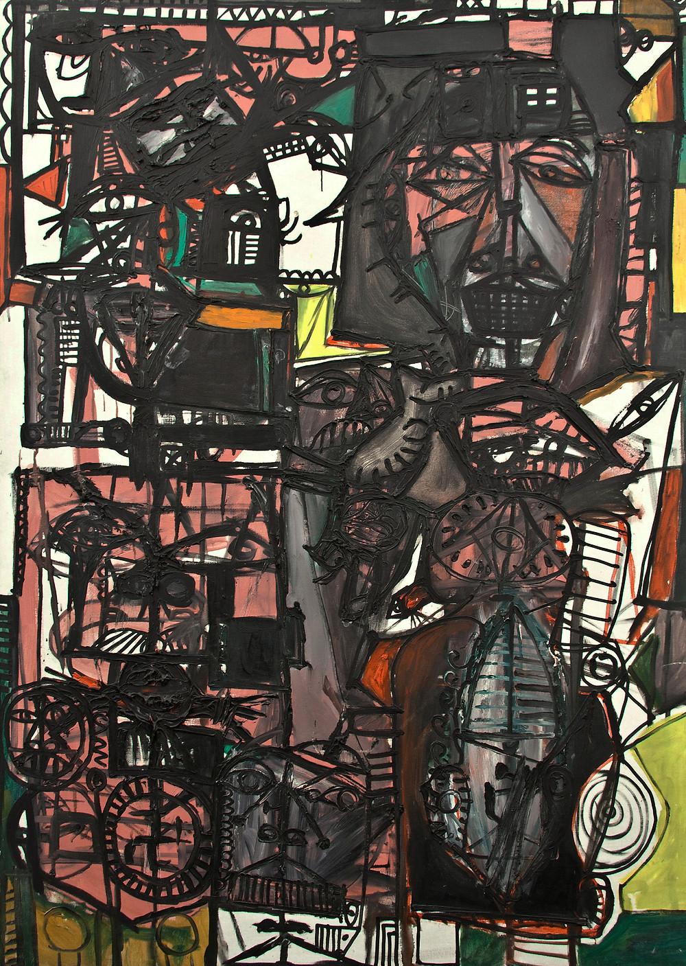 Peinture à l'huile de l'artiste Michel Macréau