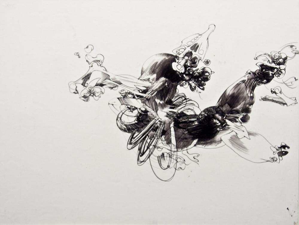 Dessin au stylo-bille de l'artiste François Lunven
