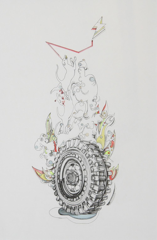 Dessin à l'encre de Chine de l'artiste Clara Fierfort