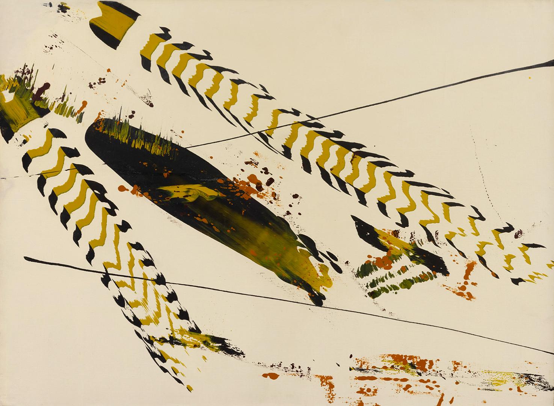 Bernard Réquichot, peinture sur toile, 1957