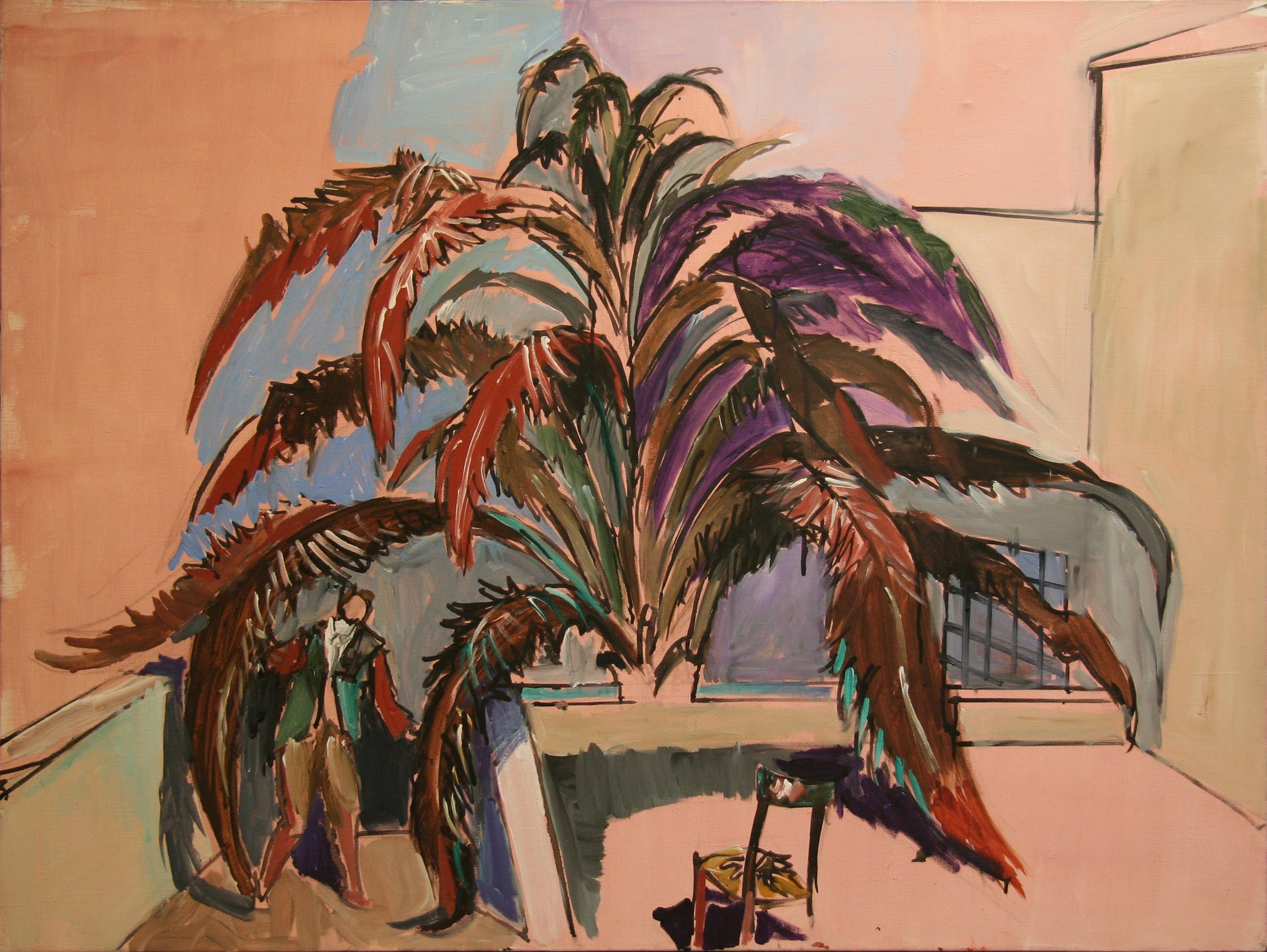 Jean Hélion, Palmier, 1982, acrylique sur toile, 97 x 130 cm