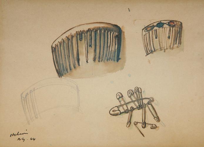 Jean Hélion, Peignes et épingles à nourrice, 1944