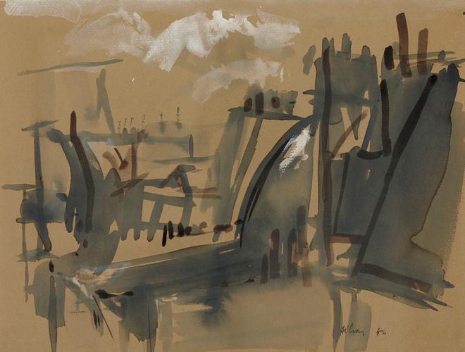 Jean Hélion, Les toits, 1960