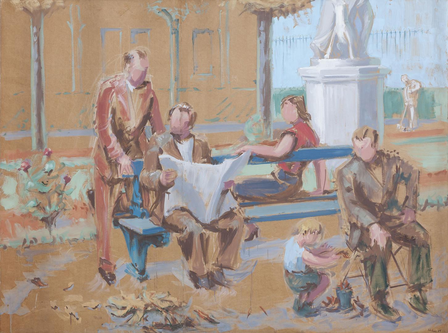 Jean Hélion, Etude pour le grand Luxembourg, 1955