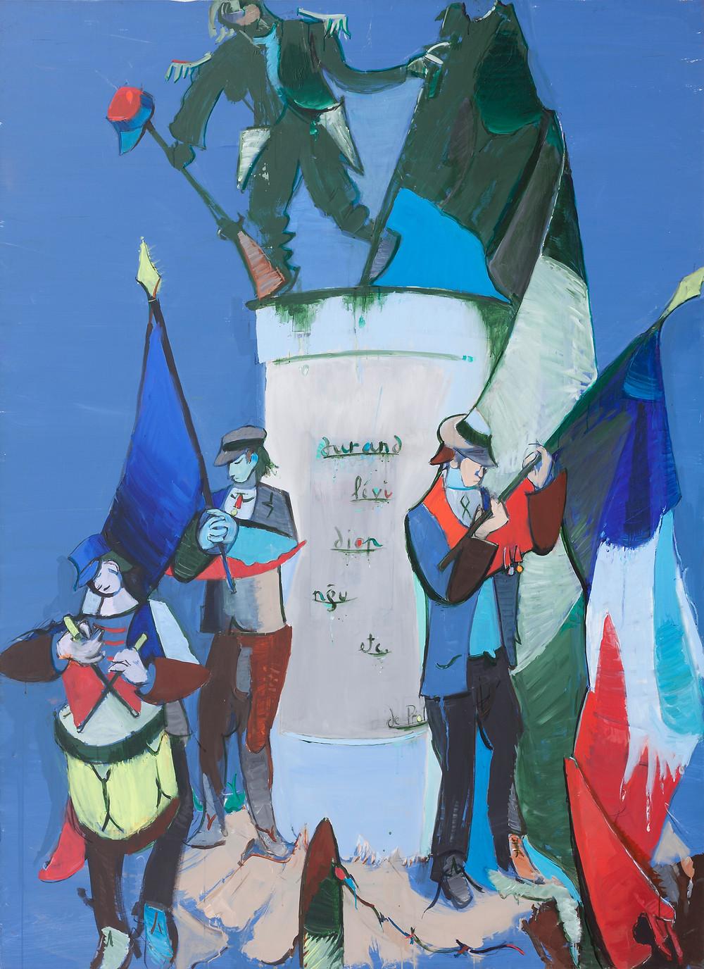 Peinture à l'acrylique sur toile de l'artiste Jean Hélion