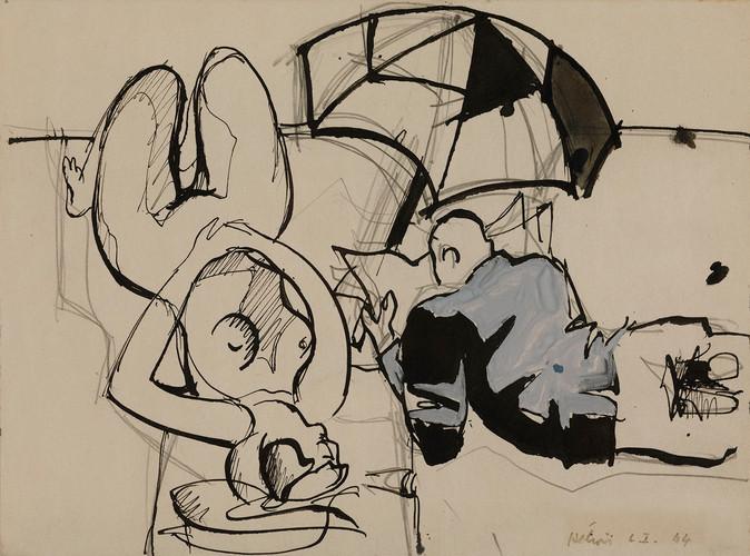 Jean Hélion, Nu d'Amagensett, 1944