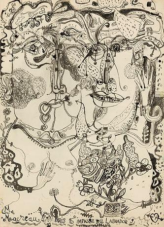 Michel Macréau, « Couple », 1964, encre