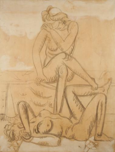 Jean Hélion, Nu assis, nu couché, 1949