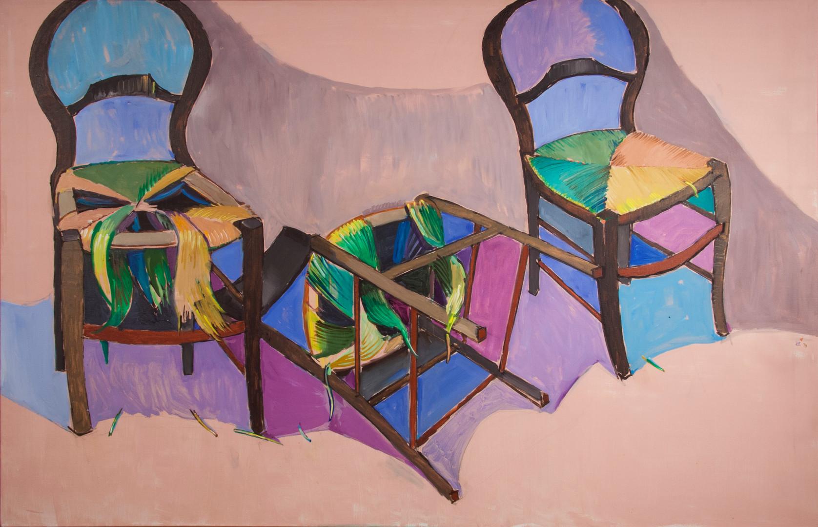 Jean Hélion, Drame en trois chaises, 1979