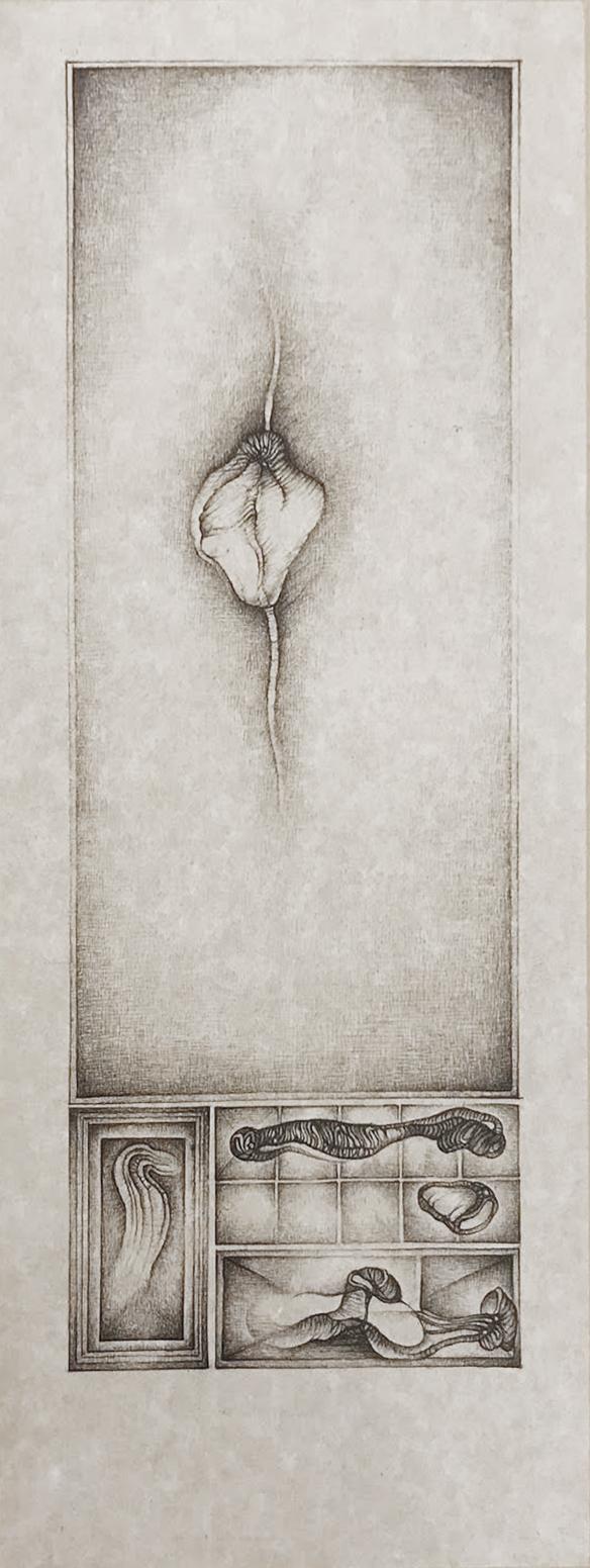 Cécile Reims, Sans titre, d'après un dessin de Fred Deux, 1991-1992 Gravure sur papier vélin, 29,8 x