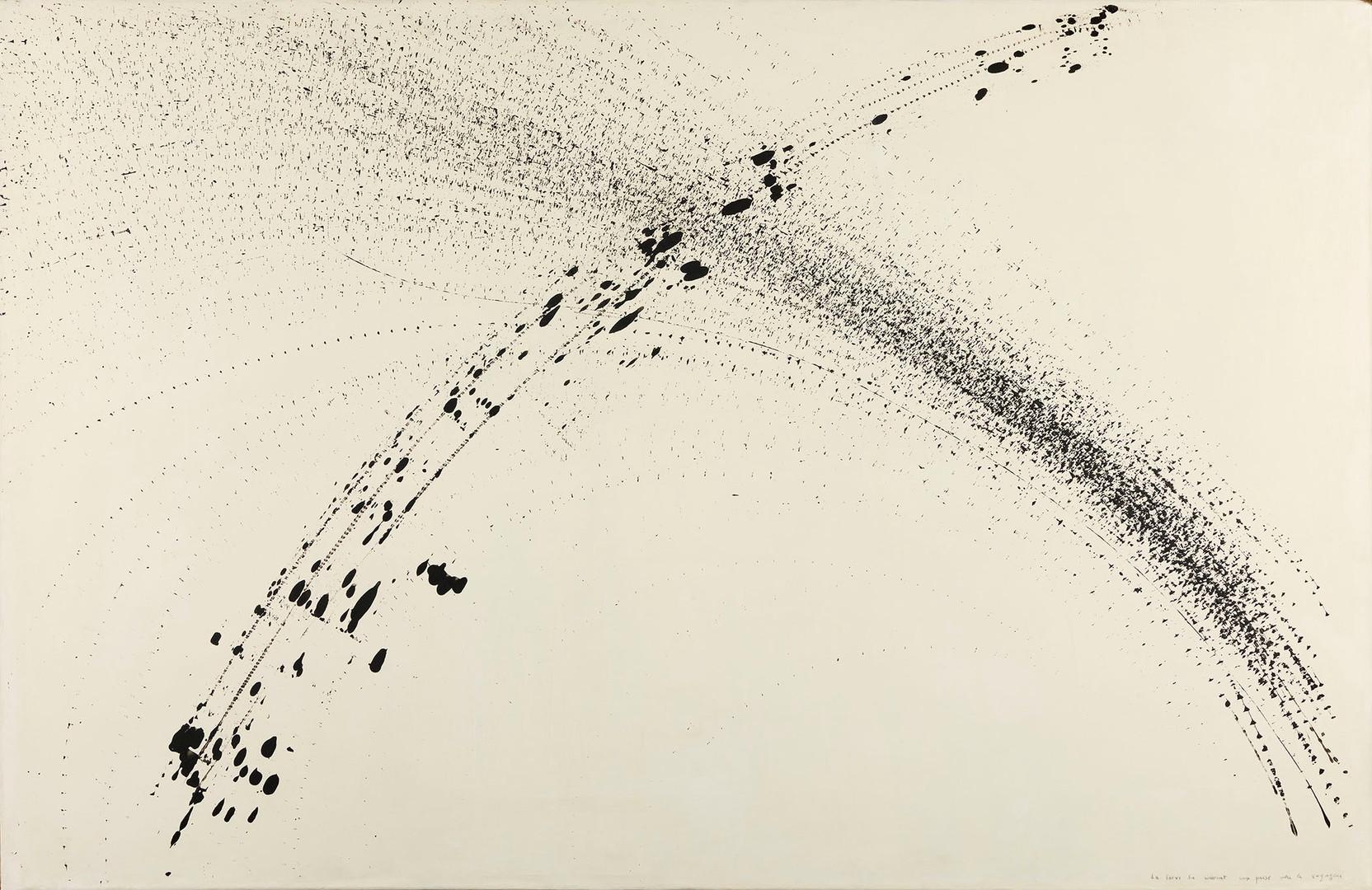 Bernard Réquichot, La louve du couvent aux prises avec le voyageur, Traces graphiques, 1957