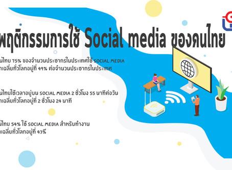พฤติกรรมการใช้ Social media ของคนไทย