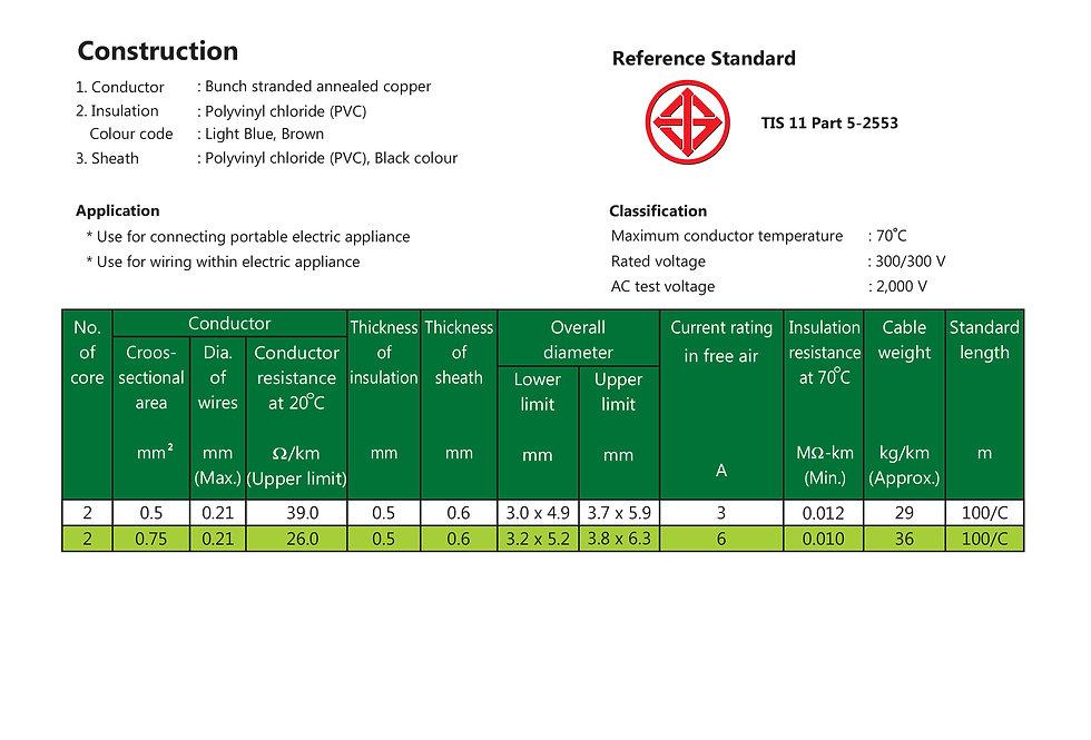 60227 IEC 52 แบน VKF 300/300 V 70 C