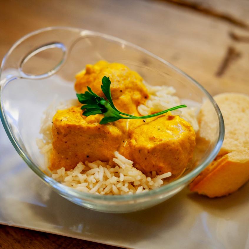 Pollo con Curry al Hindú