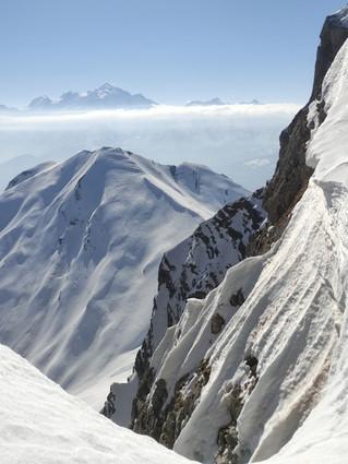 Raquettes et panoramas du Mont Blanc.