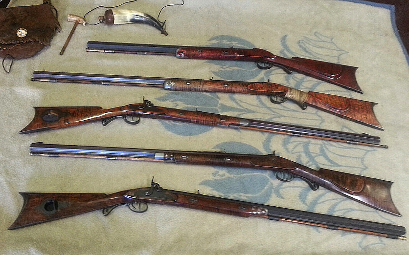 Five of Don Fritz' personal guns