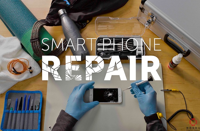 smartphone repair with logo