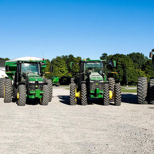 Lineup of tractors tested for John Deere Project