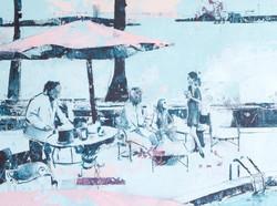 "The Quay Club (48""x48"") SOLD"