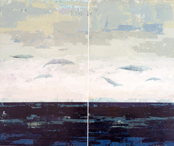 Miles from Shore (Diptych)