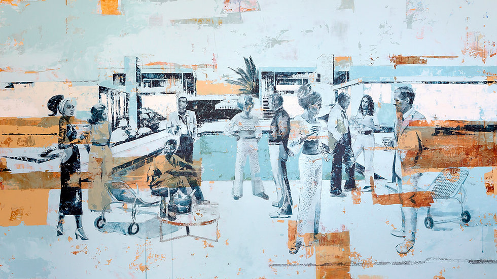 Poolside Cocktails - 48 x 84 inch (SOLD)