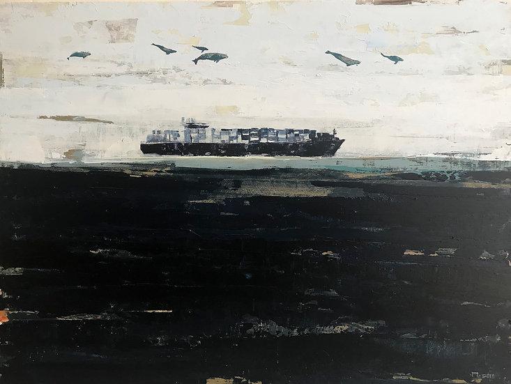 """Print """"Cargo ship high"""""""