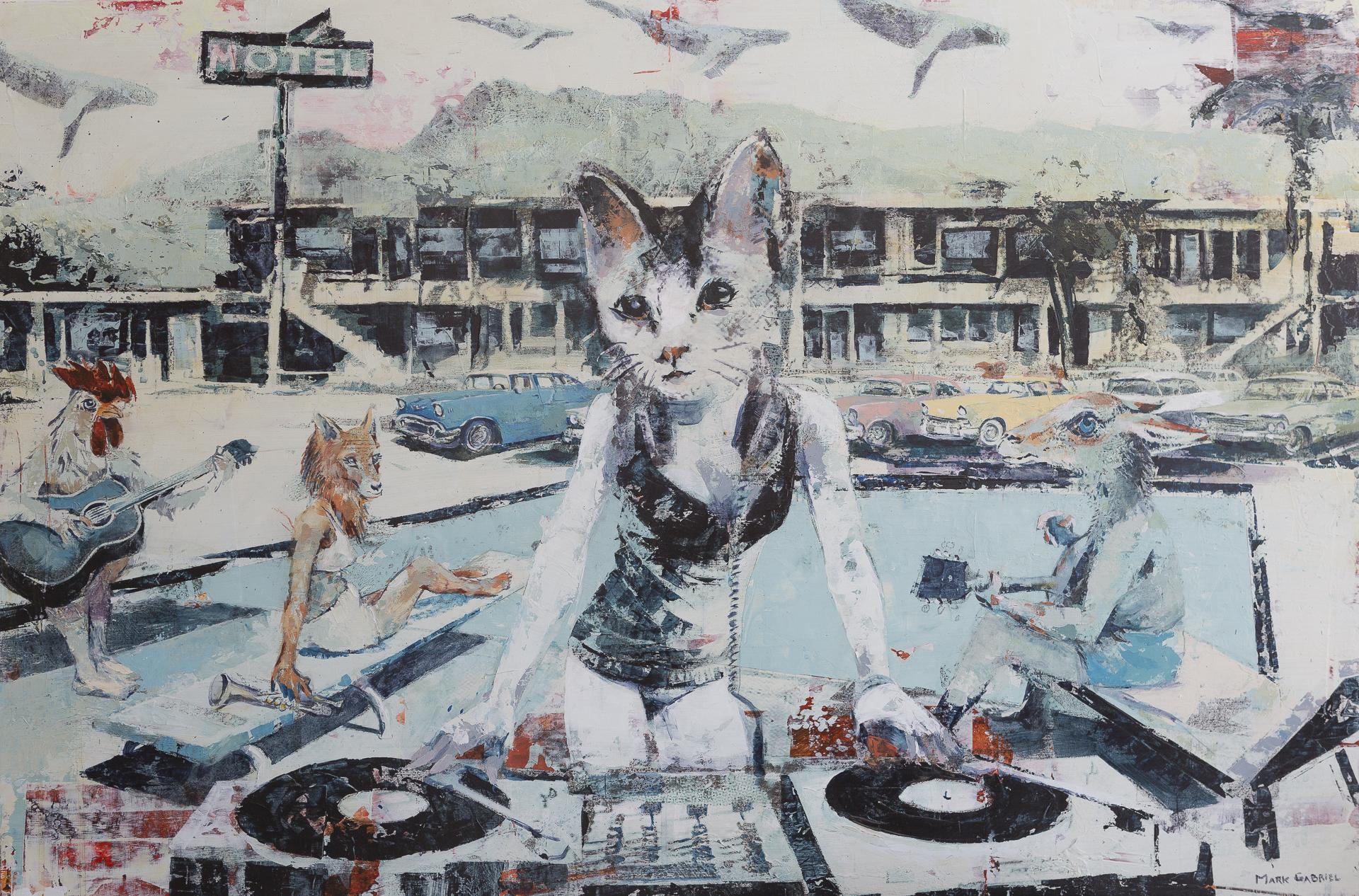 """Gary's Kitty"" 36 x 24 inch"