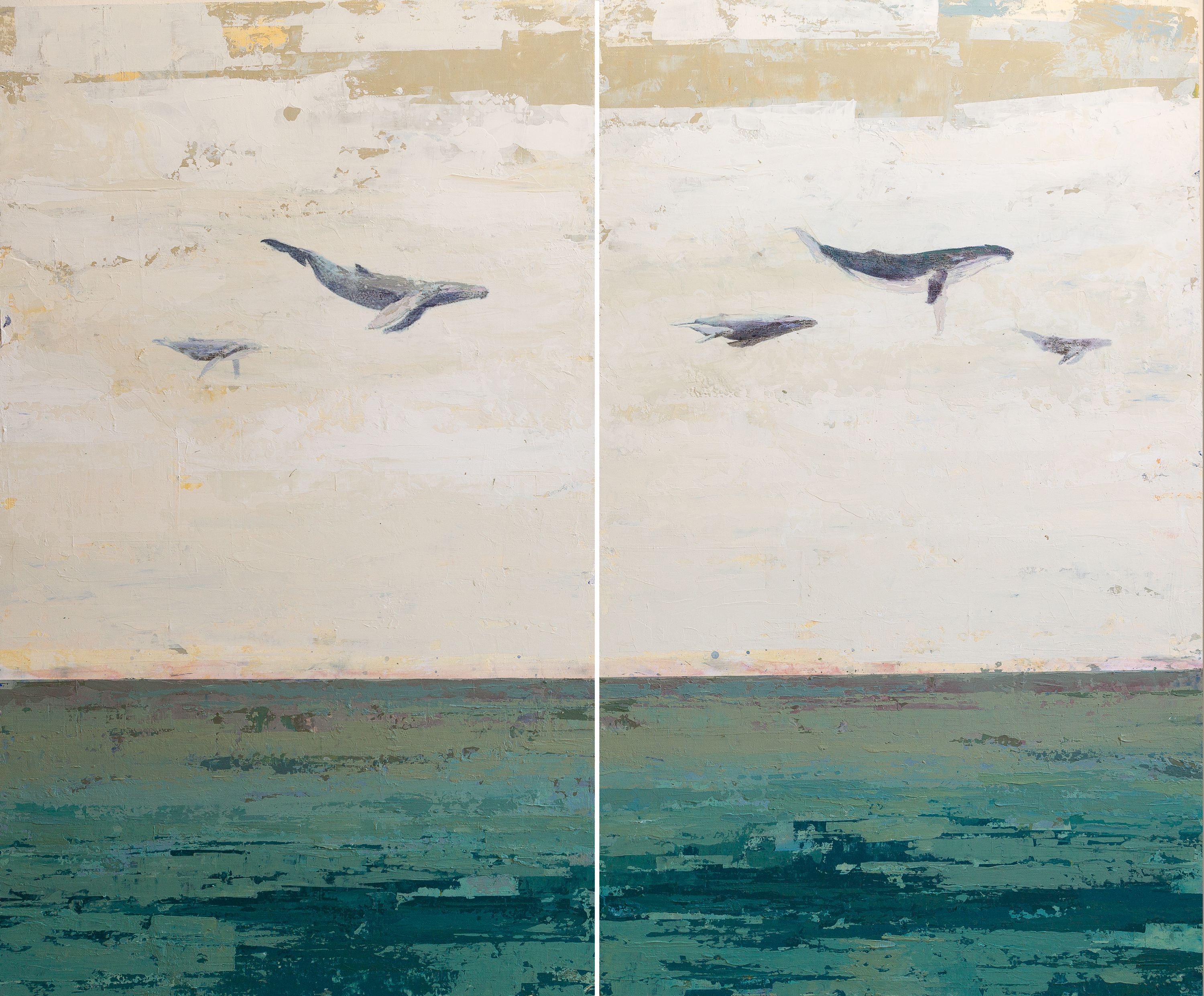 Libre Yellow, Libre Blue (Diptych)