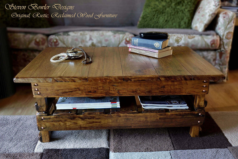 CUSTOM ORDER For Karen for a Country Cottage Reclaimed Wood Coffee Table