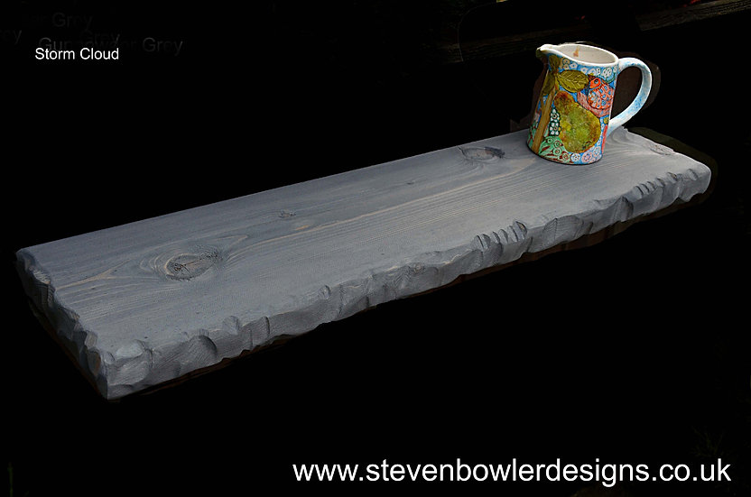 CUSTOM ORDER for Martyn 2 x 130 cm L + 1 x 103 cm Dark Storm Grey Shelves