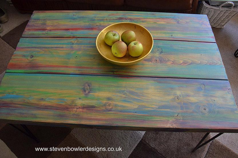 CUSTOM ORDER for Julie Coastal Cottage Multi Coloured  Coffee Table