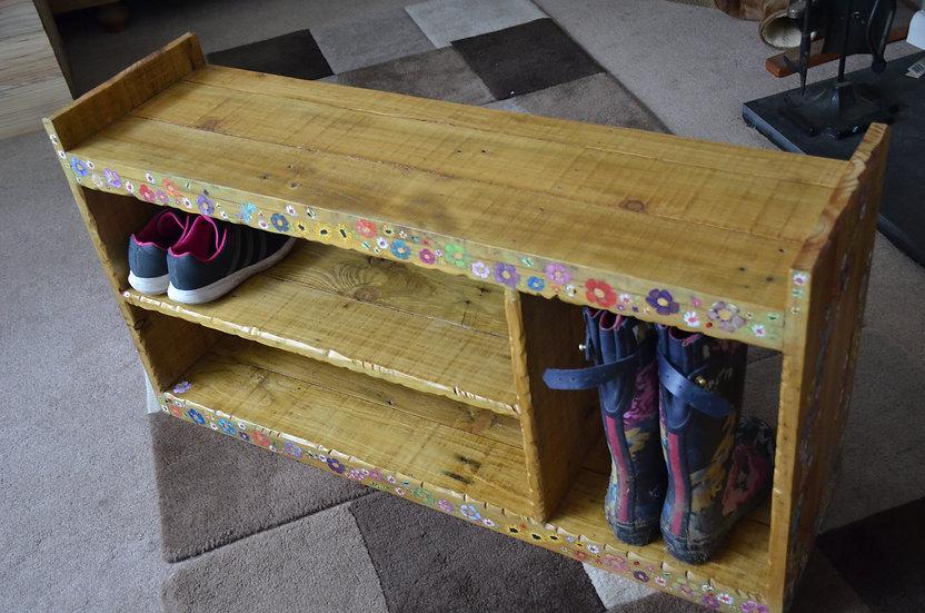 CUSTOM ORDER For Lesley-Anne White Coastal Cottage Shoe Rack