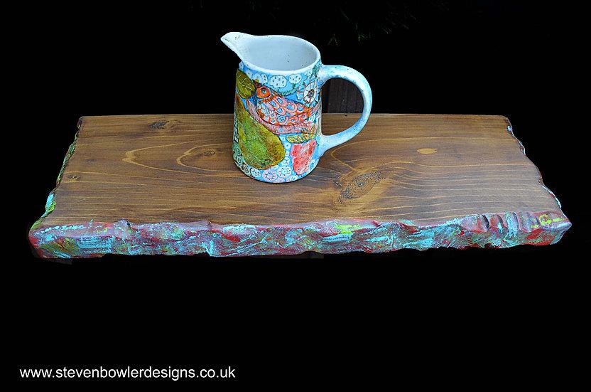 Bespoke Multi Coloured Boatwood Style Floating Shelves