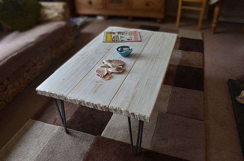 CUSTOM ORDER for Jill Bespoke White Coastal Table 100cm L x 60 cm W