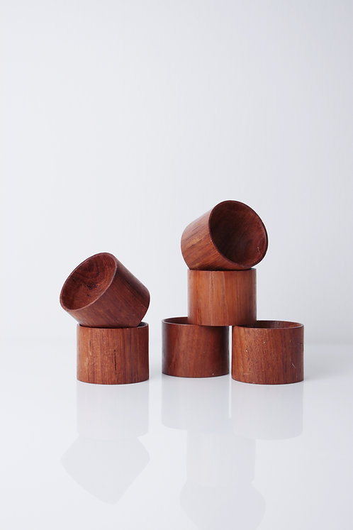 DANISH WOODEN EGG CUPS