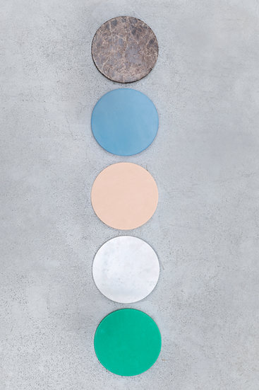 Muller Van Severen 5 Circles, Luxury Kitchen Cutting Boards, Colourful Marble and Plastic Top View