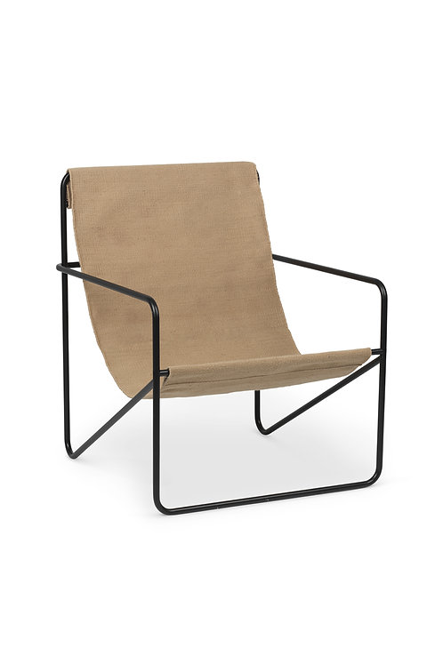 Desert Chair in Black/Solid by Ferm Living - Eco Friendly indoor/outdoor furniture.