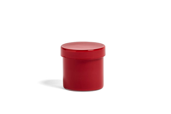 Container by HAY in Red. A perfect catchall for any room of the home or office - from jewellery to Q-tips to paperclips