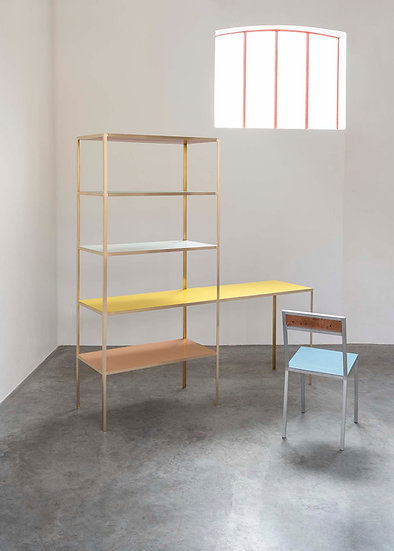 RACK + TABLE S BRASS - YELLOW + RED