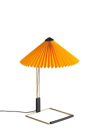 The Matin Table Lamp by Inga Sempé for HAY in Yellow. Playful, modern table lamp for anywhere in the home or office.