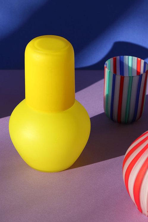 MURANO GLASS TUMBLE UP SET YELLOW