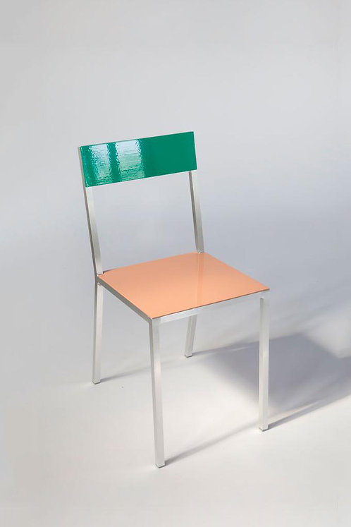 CHAIR #2 - GREEN/PINK