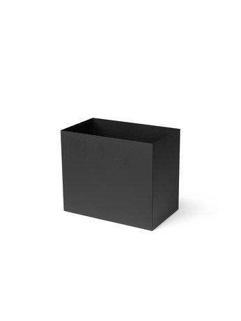 PLANT BOX POT - LARGE - BLACK