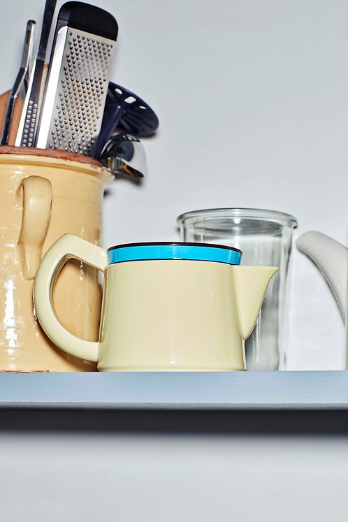 Coffee Pot by George Sowden in Light Yellow for HAY. Porcelain exterior with innovative SoftBrew™ stainless steel filter.