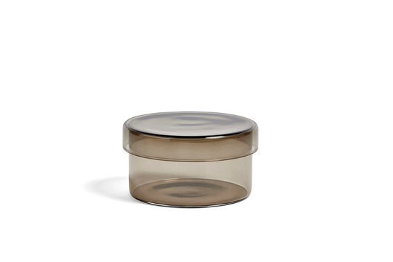 Container by HAY in Grey. A perfect catchall for any room of the home: bathroom, bedroom, hallway, office!