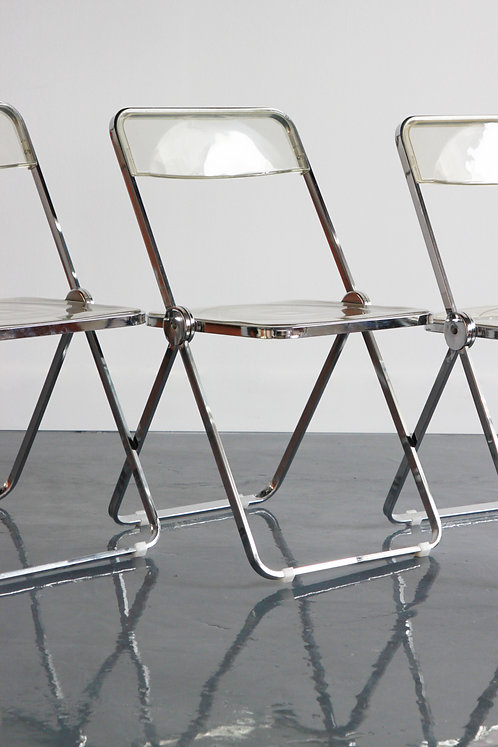 60's LUCITE FOLDING CHAIRS