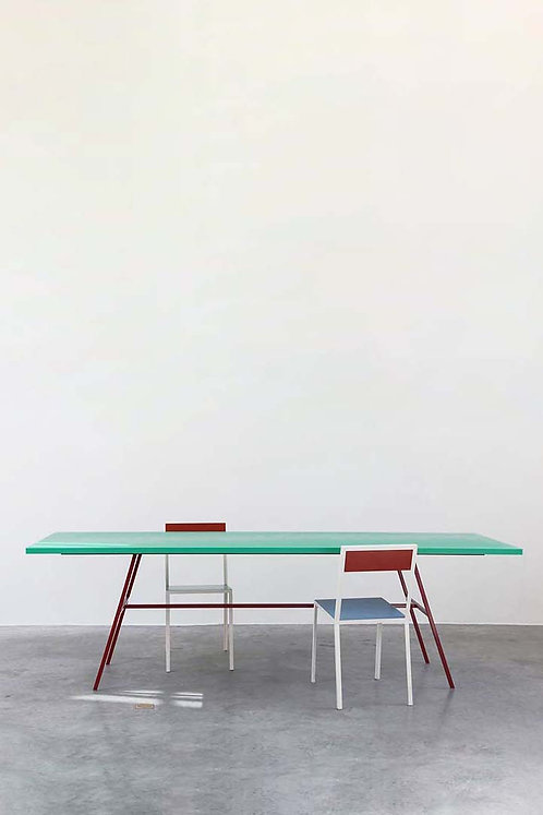 The Long Table by Muller Van Severen - Colourful tables for the dining room or office board room.