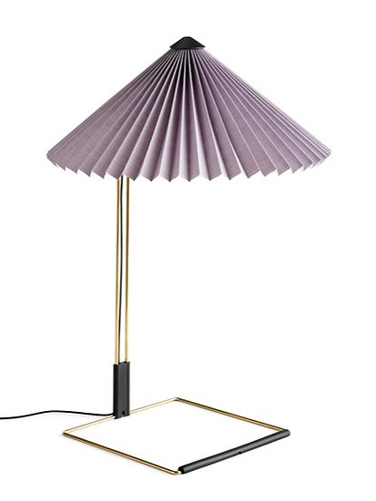 The Matin Table Lamp by Inga Sempé for HAY in Lavender. Playful, modern table lamp for anywhere in the home or office.