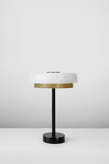 TIERED DISC TABLE LAMP