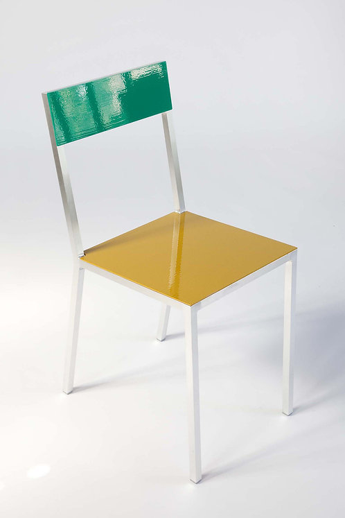 CHAIR #2 - GREEN/CURRY